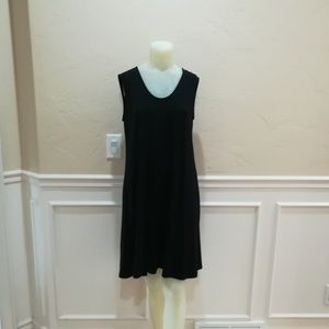 Eileen Fisher black lightweight dress